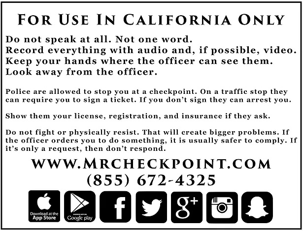 rights when being arrested in california