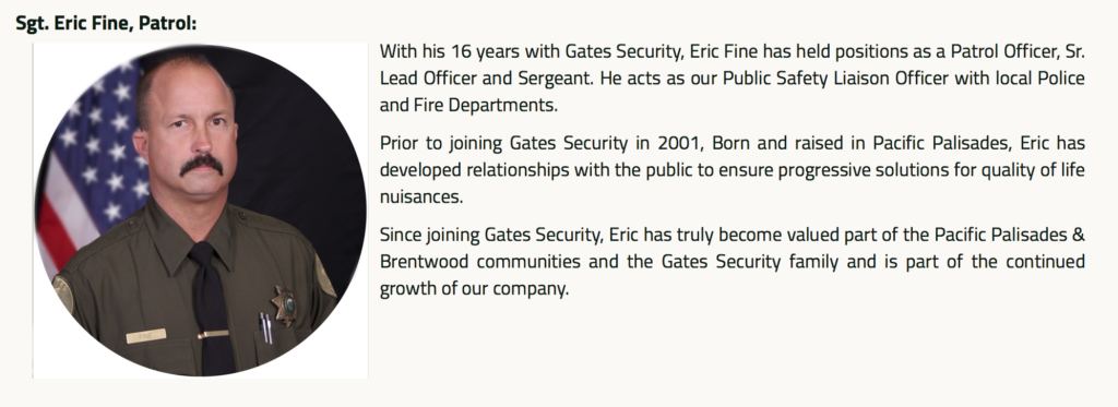 eric fine gates security